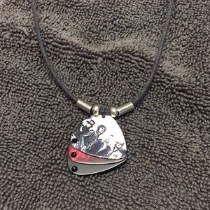 Motley Crue guitar pick necklace